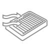 Substituição de filtro de ar do motor e ar-condicionado